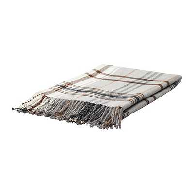 HERMINE Throw, beige, brown - Ikea