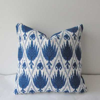 Blue Ikat Pillow Cover - 20 x 20 - Etsy