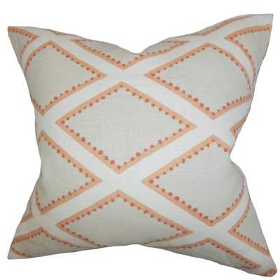 "Alaric Geometric Gray Cora lDown Filled Throw Pillow - 18"" x 18"" - Overstock"