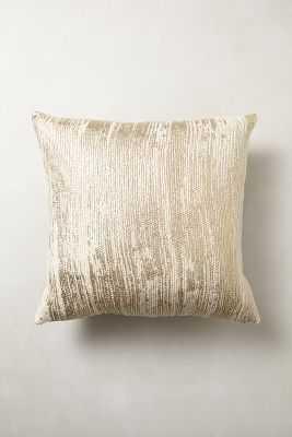 Plaited Metallics Pillow - 20x20 - With Insert - Anthropologie