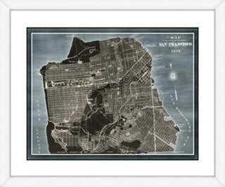 "Map of San Francisco - 22"" x 30"" - Framed - One Kings Lane"