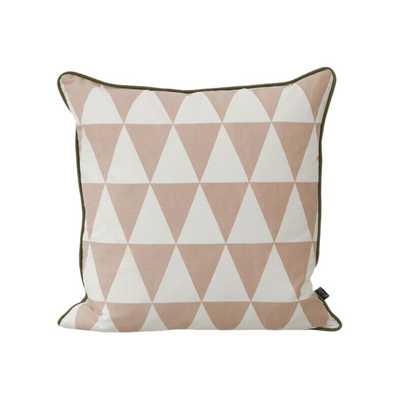 "Modern Geometric Throw Pillow - rose -19.68"" - Down/Feather Insert - AllModern"