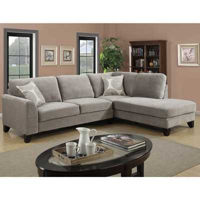 Porter Reese Dove Grey Sectional Sofa - Overstock