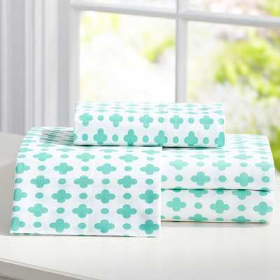 Clover Dot Sheet Set - Full - Pottery Barn Teen