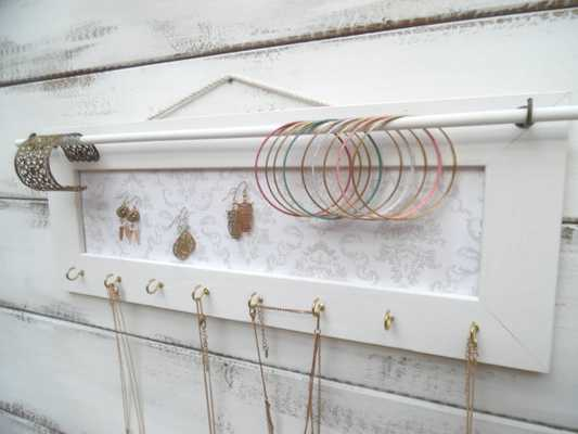 Jewelry Holder, Jewelry Organizer-Smooth White - Etsy