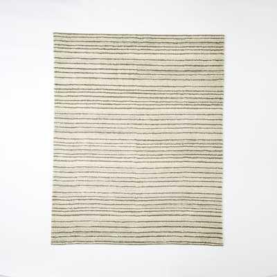Steven Alan Pinstripe Shag Wool Rug - West Elm
