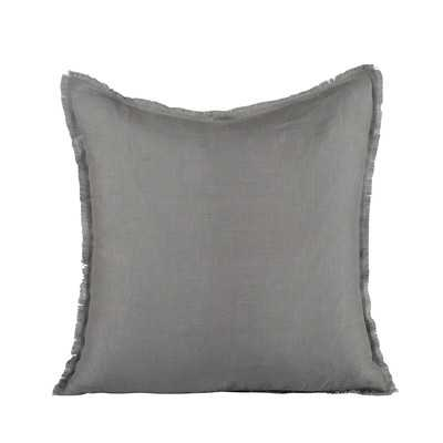 """Harmony Linen Pillow Cover - Steel - 18"""" H x 18"""" W x 5"""" D - Insert Included - Wayfair"""