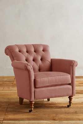 Linen Gwinnette Chair - Petal - Anthropologie