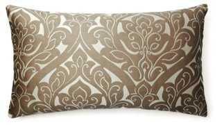 Fontainebleau 14x24 Pillow, Silver - One Kings Lane