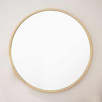 Metal Framed Oversized Round Mirror - West Elm
