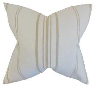 Fran 18x18 Pillow, Natural - One Kings Lane