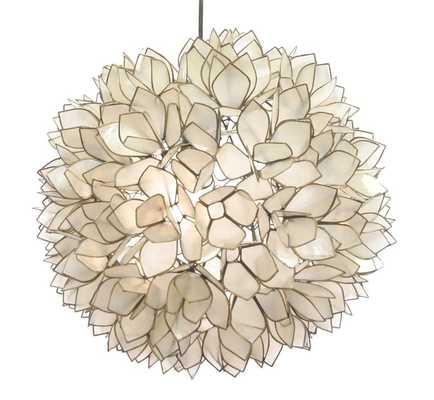 "Lotus Flower Chandelier - 13"" - lightology.com"