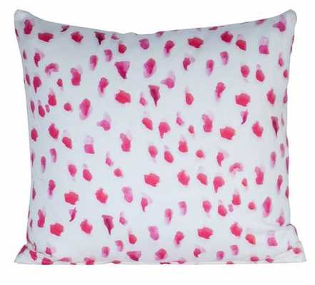 "Africa"" by Inslee Pillow - Pink*- 18"" x 18""- With down insert knife edge - Society Social"