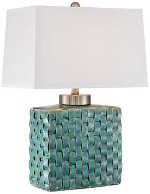 Sloane Celadon Woven Table Lamp - Lamps Plus