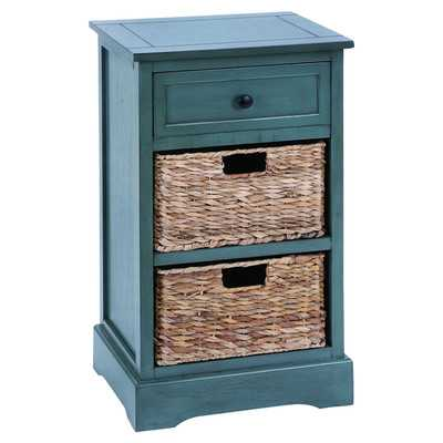 Cabinet with 2 Wicker Baskets - Wayfair