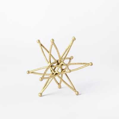 Star Sculpture, Small, Gold - West Elm