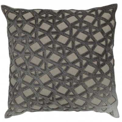 """Estelle Wheat Ground Pillow with Laser Cut 20"""" x 20"""" - High Fashion Home"""