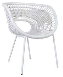 Serban Accent Chair, White - One Kings Lane