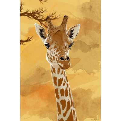 """Giraffe"" Graphic Art on Canvas - Wayfair"