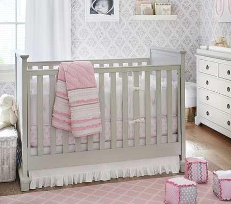 Nursery Quilt Bedding Set: Quilt, Bow Crib Fitted Sheet & Crib Skirt - Pottery Barn Kids