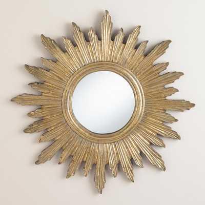 Large Antique Gold Leila Sunburst Mirror - World Market/Cost Plus