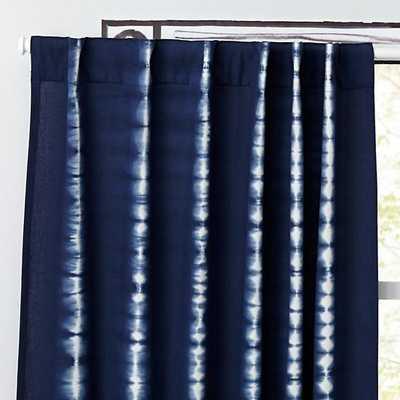 "84"" Tie-Dye Curtain (Blue) - Land of Nod"