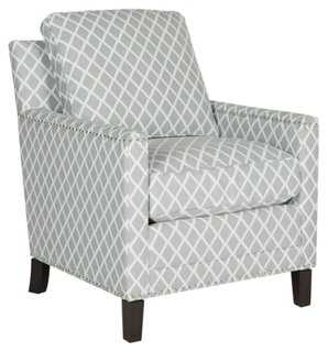 Deema Club Chair, Gray/White - One Kings Lane