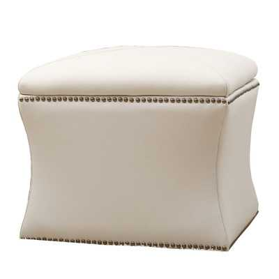 Samantha Bonded Leather Storage Ottoman - Wayfair