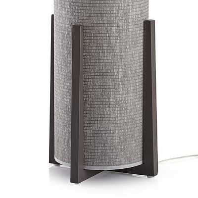 Weave Greige Floor Lamp - Crate and Barrel