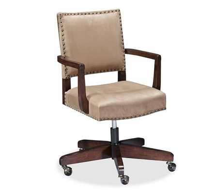 Manchester Swivel Desk Chair - Light Wheat - Pottery Barn