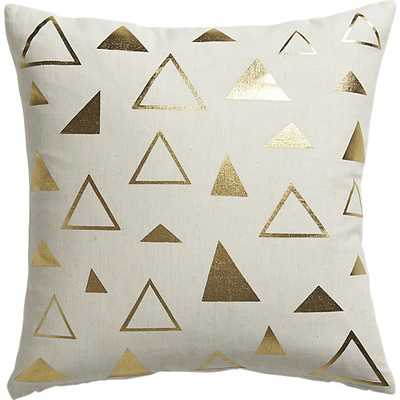 """Tryst 16"""" pillow with feather insert - CB2"""