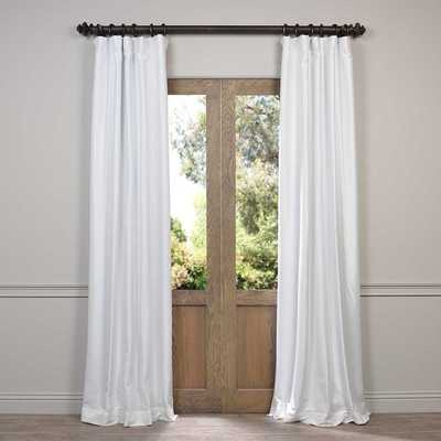 "EFF Faux Silk Taffeta Solid Blackout Curtain Panel -108"" - Overstock"