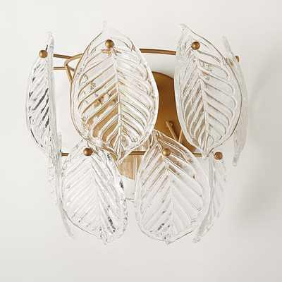 Glass Leaf Sconce - West Elm