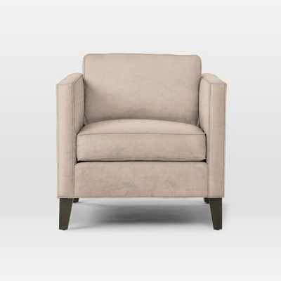 Dunham Down - Filled Armchair - Boxed - Luster Velvet, Dusty Blush - West Elm