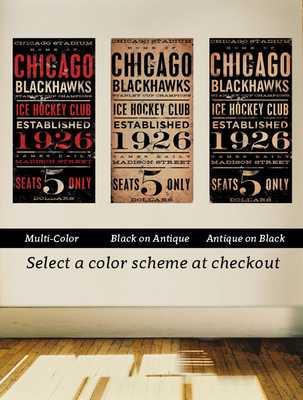 CHICAGO BLACKHAWKS hockey club graphic art artwork - Etsy