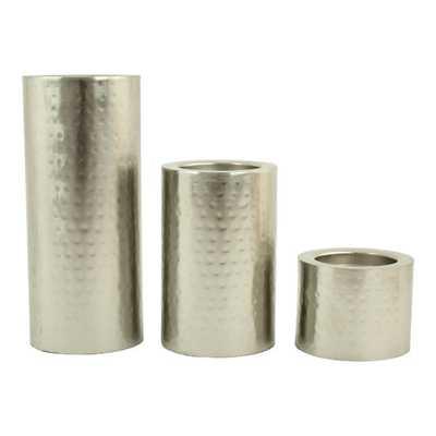 Nolan 3 Piece Metal Candle Holder Set - AllModern