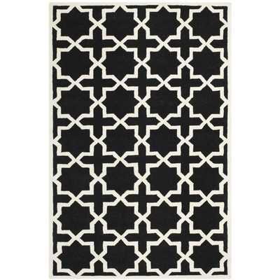 Safavieh Handmade Moroccan Thick Black Wool Rug - Overstock