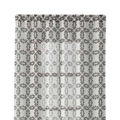 "Molly Grey 48""x84"" Curtain Panel - Crate and Barrel"