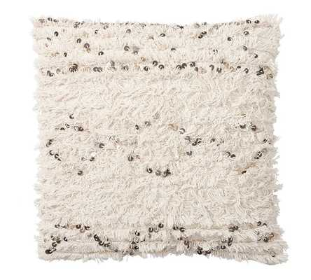 Moroccan Wedding Blanket Pillow Cover - 24sq - White - No Insert - Pottery Barn