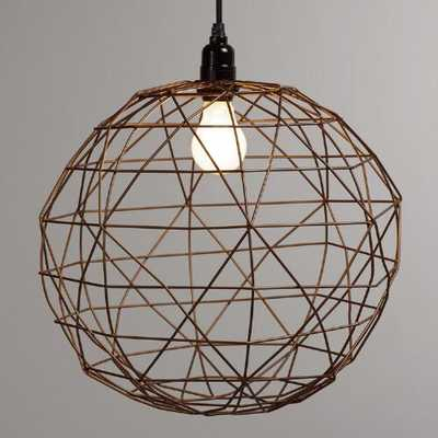 Bronze Round Twisted Wire Pendant Lamp - World Market/Cost Plus