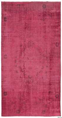 "Over-dyed Turkish Vintage Rug - 6'4'' x 12'4"" - Kilim"