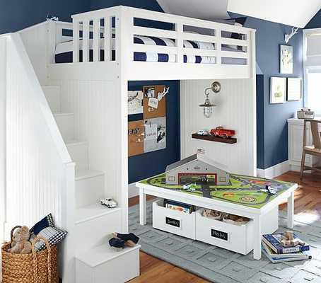 Catalina Stair Loft Bed - Pottery Barn Kids