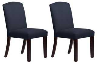 Navy Indio Side Chairs, Pair - One Kings Lane