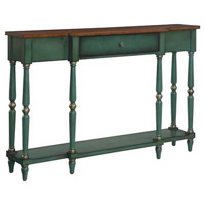 Convenience Concepts Wyoming Two Tone Antique Console Table - Target