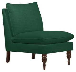 Bacall Slipper Chair, Green - One Kings Lane