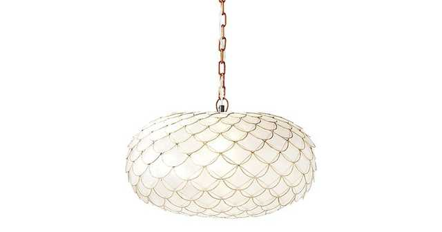Capiz Scalloped Chandelier - Domino
