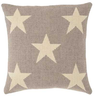 STAR GREY/IVORY INDOOR/OUTDOOR PILLOW - Fresh American