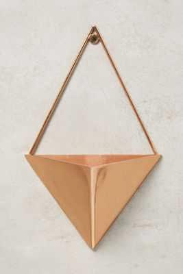 Gem Facets Wide triangle Planter - Anthropologie