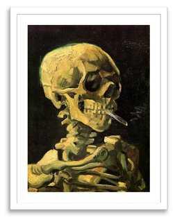 Van Gogh, Skull with Burning Cigarette - One Kings Lane