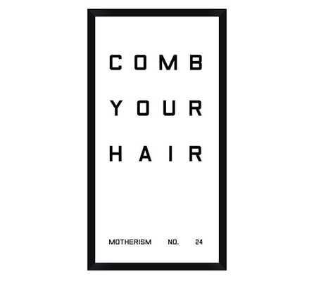 Bathroom Sign Prints - Comb Your Hair - Pottery Barn
